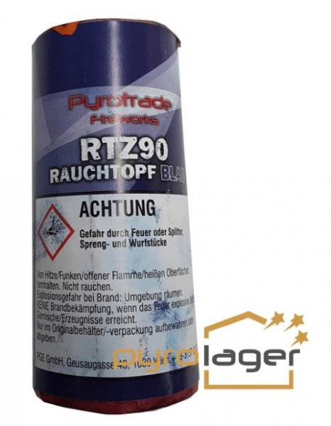 Rauchtopf RTZ90 Blau - Pyrolager.de