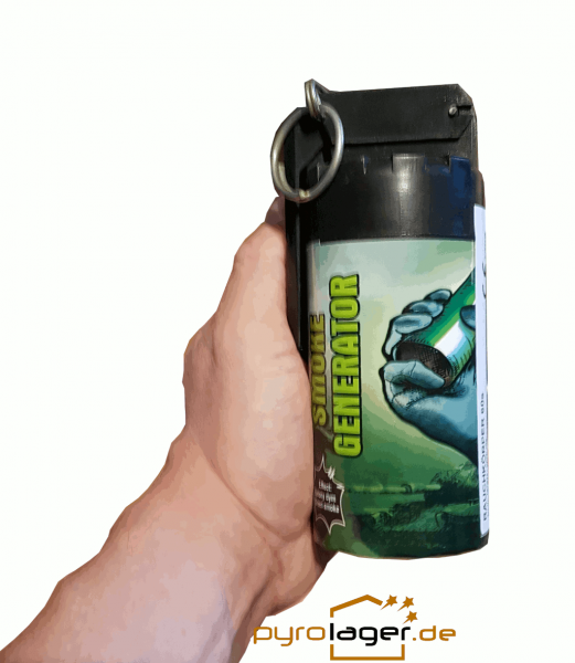 TXF932 XXL Rauchgranate in grünmit Kipphebel Zündung