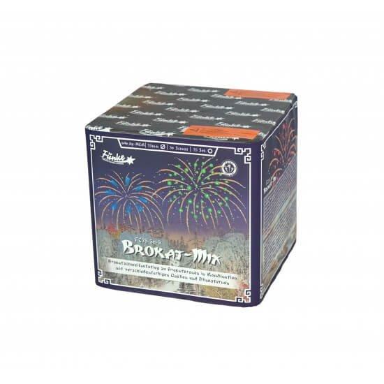 Brokat-Mix 36 Schuss Batterie mit vielen Farben blinkern und Gold von Funke Feuerwerk