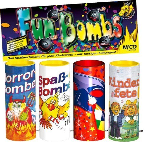 Fun Bombs - Tischfeuerwerk für den nächsten Kindergeburtstag
