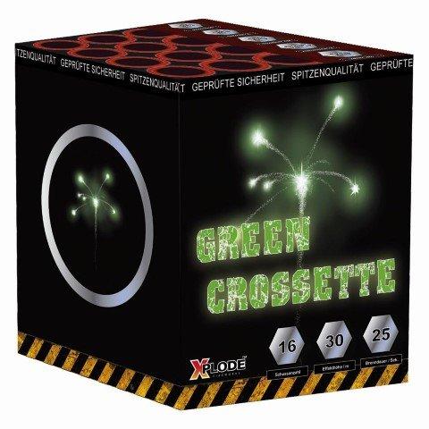 Green Crossette - 16 Schuss leises Feuerwerk