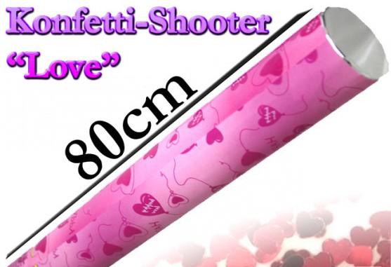 Konfetti Shooter - Love - 80 cm
