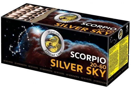 Silver Sky - Scorpio 20-60 - 60 silberne Blinker Wasserfälle