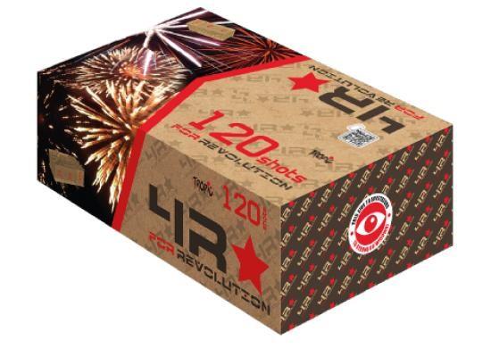 120 Shots for Revolution - TB407 Komplettfeuerwerk mit 120 Schuss und tollen Kombinationen von Effekten -