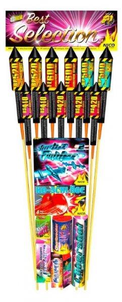 Nic Feuerwerk best selection. Großes Set an Raketen, Fontänen und mehr