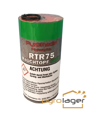 Rauchtopf RTR75 Grün- Pyrolager.de
