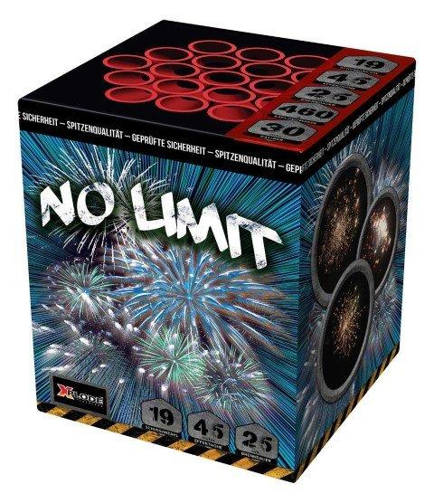 No Limit - XP5262 - 19 Schuss Feuerwerk mit viel Gold und farbigen Sternen
