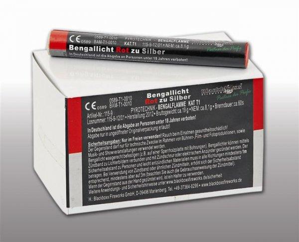 Pyrolager.de - Blackboxx Lanzenlichter Rot zu Silber