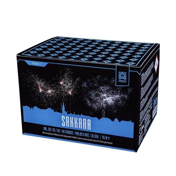 Sakkara - 40 Schuss Feuerwerk mit sich steigernden Effekten