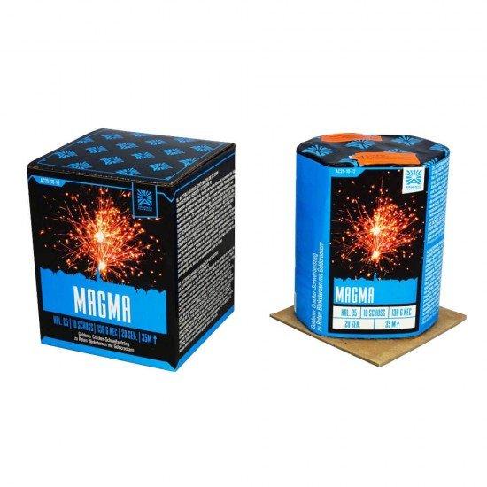 Magma - Neuheit 2021 - 10 Schuss rote Blinksterne mit Crackling