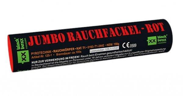 Jumbo Rauchfackel Rot mit zweiseitigen Rauchausstoss