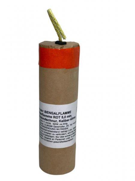 Bengalflamme 5 Minuten Rot Kaliber 40 mm