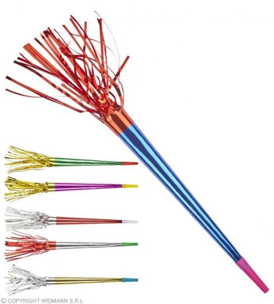 Farbenfrohe Trompeten mit dem nervtötenden Sound