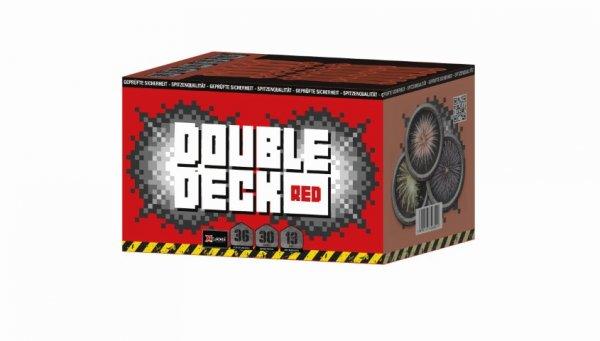 Double Deck Red - 36 Schuss Feuerwerk mit Crackling und Blutroten Sternen - XP5301
