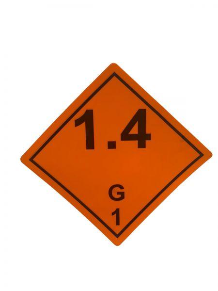 Gefahrgutaufkleber nach ADR 1.4G