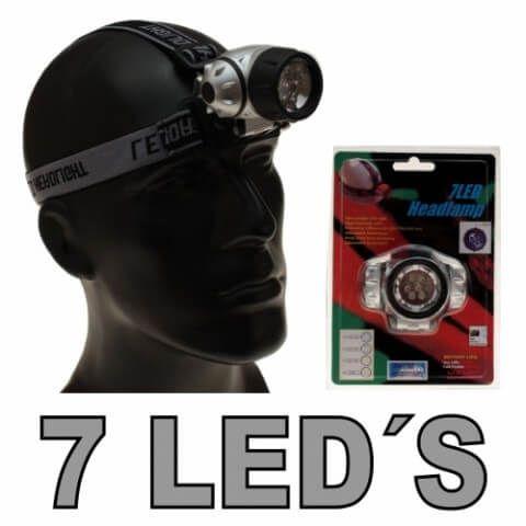 Pyrolager.de - Kopflampe mit 7 LEDs