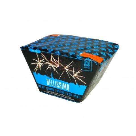 Belissimo - Wunderschöner 5x5 Schuss Fächer mit Feuertöpfen und großen Zerlegern