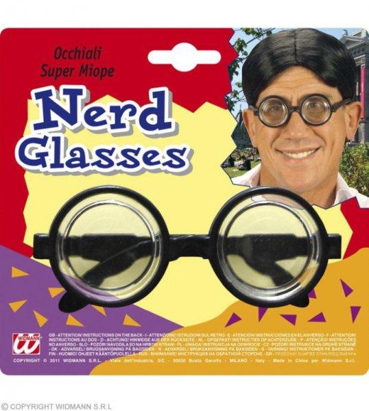 Typische Nerd Brille mit dicken Gläsern