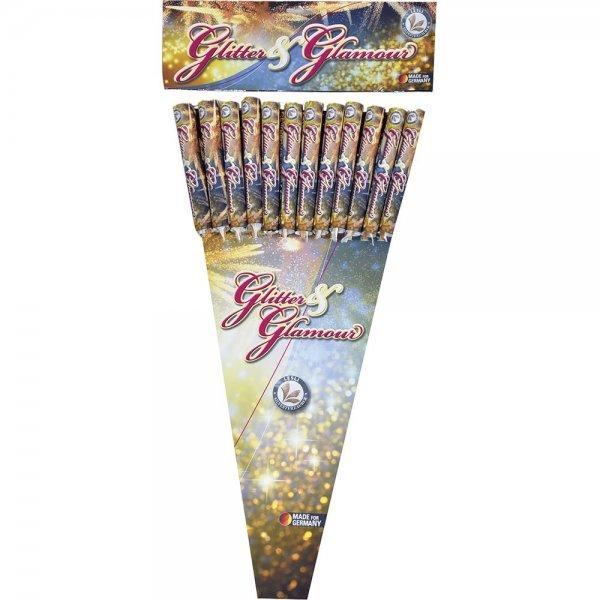 Glitter and Glamour - 12 kräftige Feuerwerksraketen von Lesli