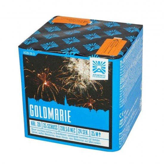 Goldmarie - Gold und farbige Sterne erhellen den Himmel beim Feuerwerk