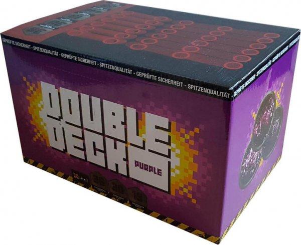 Double Deck Purple - 36 Schuss Feuerwerk mit Crackling und lila Sternen - XP5302
