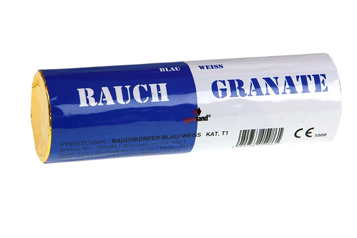 Rauchgranate Blau Weiß - Doppelrauch im Pyrolager.de