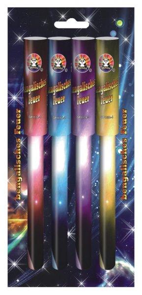 4 Farben Set bengalische Feuer - bengalos - von Panda Feuerwerk