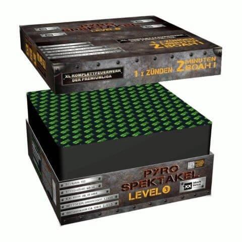 Pyro-Spektakel Level 3 - XXL Feuerwerk mit 120 Sekunden Brenndauer