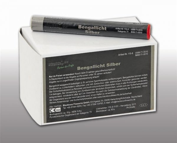 Pyrolager.de - Blackboxx Lanzenlichter Silber