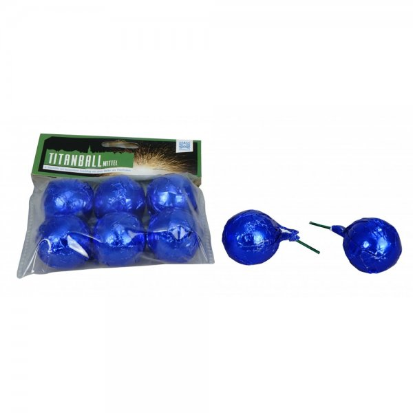Titanball mttel - Cracklingbälle aus dem Hause Argento Feuerwerk