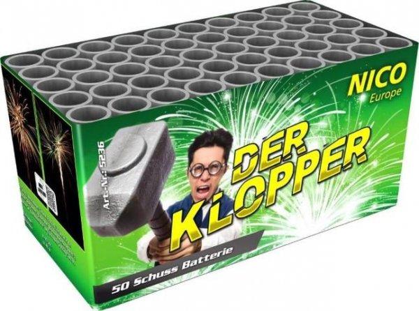 Der Klopper - 50 Schuss Feuerwerksbatterie mit kräftigen Effekten