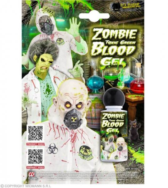 Toxisches giftgrünes Zombieblut in Gel Form
