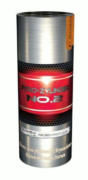 Pyro-Zylinder No. 2 - Prächtige, leise Silberfontäne