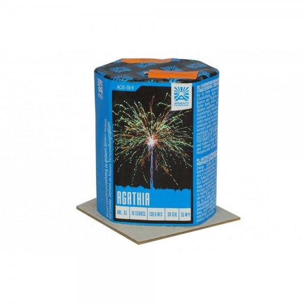 Agathia - 10 Schuss Feuerwerksbatterie der Firma Argento Feuerwerk