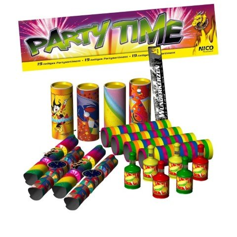 Party Time - Tischfeuerwerk Set 19 Teile