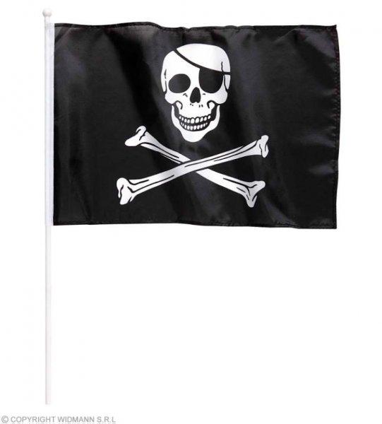 Piratenfahne mit Halter