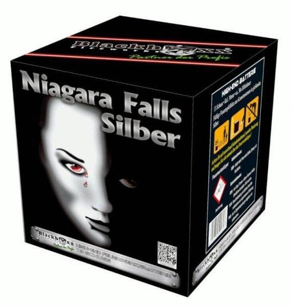 Niagara Falls Silber - Leises Feuerwerk mit silbernen Feuertöpfen