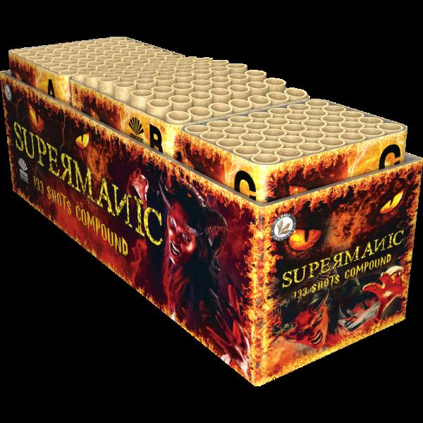 Supermanic - 133 Schuss XXL Feuerwerk mit toll kombinierten Effekten
