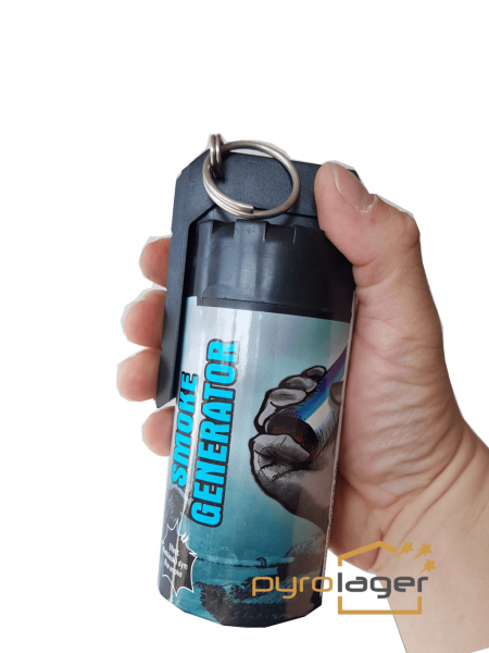 TXF932 XXL Rauchgranate in blau mit kipphebel Zündung