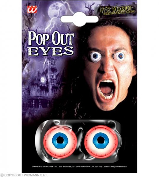 Gruselige Schock Augen