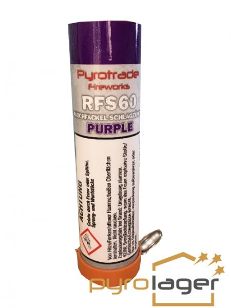 Pyrolager.de - Rauchfackel mit Schlagzünder purpur