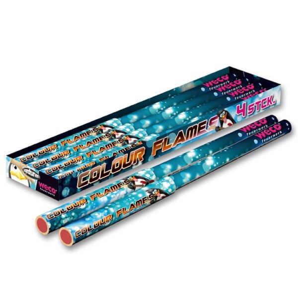 Color Flames - blaue F1 Bengalfackeln als Ganzjahresfeuerwerk