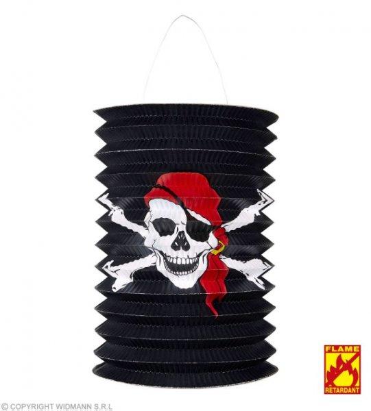 Schaurige Piraten Laterne mit Totenkopf