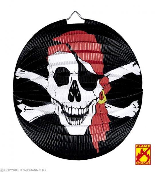Schauriger Piratenlampion mit Totenkopf Motiv
