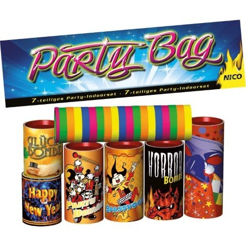 Party Bag - 7 teiliges Set Tischfeuerwerk