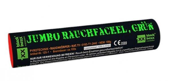 Jumbo Rauchfackel Grün mit zweiseitigen Rauchausstoss