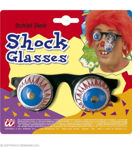 Lustige Schock Brille mit rausfallenden Augen