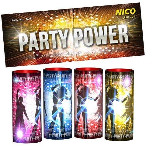 Party Power - 4 teiliges Set Tischfeuerwerk
