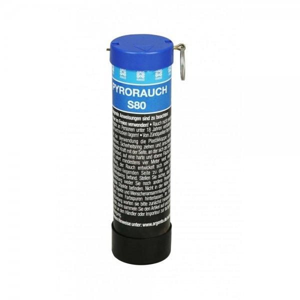 Pyrorauch S80 Blau mit Schlagzündung