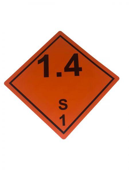 Gefahrgutaufkleber nach ADR 1.4S